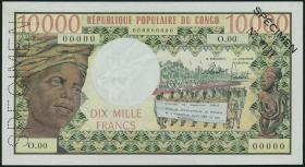 Kongo / Congo Volksrepublik P.01 10000 Francs (1971) Specimen (1/1-)