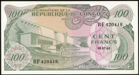Kongo / Congo P.001 100 Francs 8.7.1963 (1)