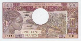 Kongo / Congo Volksrepublik P.02d 500 Francs 1983 (1)