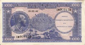 Kongo / Congo P.002F 1000 Francs 1962 (2/1)