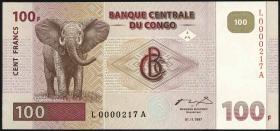 Kongo / Congo P.090 100 Francs 1997 (1)