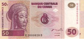 Kongo / Congo P.091 50 Francs 2000 (1)