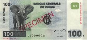 Kongo / Congo P.092s 100 Francs 2000 Specimen (1)
