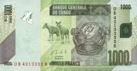 Kongo / Congo P.101b 1000 Francs 2013 (1)
