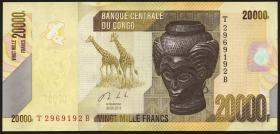 Kongo / Congo P.neu 20.000 Francs 2013 (1)