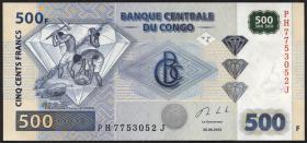 Kongo / Congo P.neu 500 Francs 2013 (1)