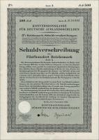 Konversionskasse für deutsche Auslandsschulden 500 Reichsmark