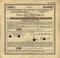 Konversionskasse Teilgutschein 10 Gulden 1935 (2)
