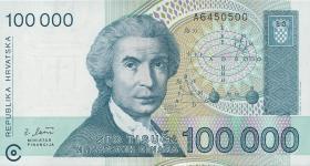 Kroatien / Croatia P.27 100.000 Dinara 1993 (1)