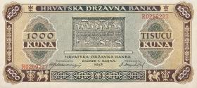 Kroatien / Croatia P.12 1000 Kuna 1943 (1)