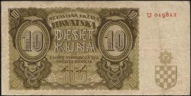 Kroatien / Croatia P.05a 10 Kuna 1941 (3)