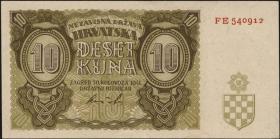 Kroatien / Croatia P.05b 10 Kuna 1941 (1-)