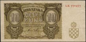 Kroatien / Croatia P.05b 10 Kuna 1941 (3)