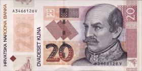 Kroatien / Croatia P.44 20 Kuna 2014 Gedenkbanknote (1)