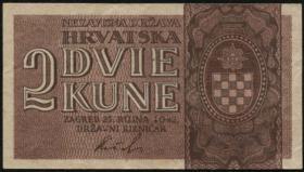 Kroatien / Croatia P.08a 2 Kuna 1942 (3)