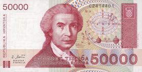 Kroatien / Croatia P.26 50000 Dinara 1993 (1)
