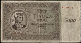 Kroatien / Croatia P.14b 5000 Kuna 1943 (4)