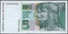 Kroatien / Croatia P.28 5 Kuna 1993 (3+)