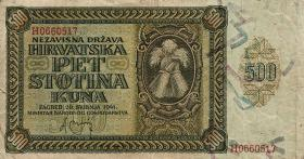 Kroatien / Croatia P.03 500 Kuna 1941 (3)