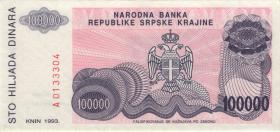 Kroatien Serb. Krajina / Croatia P.R22 100.000 Dinara 1993 (1)