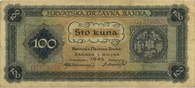 Kroatien / Croatia P.11 100 Kuna 1943 (3)