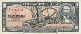 Kuba / Cuba P.088c 10 Pesos 1960 (1)