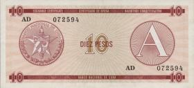 Kuba / Cuba P.FX04 10 Pesos (1985) Exchange Certificate Serie A (1)