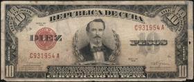 Kuba / Cuba P.071 10 Pesos 1934-48 (4)