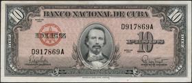 Kuba / Cuba P.079 10 Pesos 1960 (1-)
