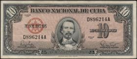 Kuba / Cuba P.079b 10 Pesos 1960 (3)