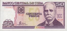 Kuba / Cuba P.119c 50 Pesos 2001 (1)