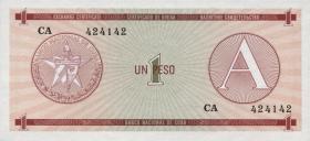 Kuba / Cuba P.FX01 1 Peso (1985) Exchange Certificate Serie A (1)