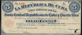 Kuba / Cuba P.062 1 Peso 1869 (2-)