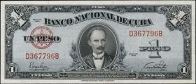 Kuba / Cuba P.077a 1 Peso 1949 (3+)
