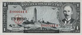 Kuba / Cuba P.087a 1 Peso 1956 (1)