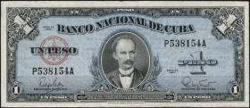 Kuba / Cuba P.077b 1 Peso 1960 (3)