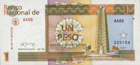 Kuba / Cuba P.FX37 1 Peso 1994 konvertierbare Note (1)