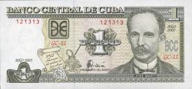 Kuba / Cuba P.125 1 Peso 2003 (1) Gedenkbanknote