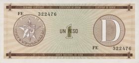 Kuba / Cuba P.FX32 1 Peso o.J. Exchange Certificate Serie D (1)