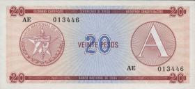 Kuba / Cuba P.FX05 20 Pesos (1985) Exchange Certificate Serie A (1)