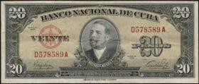 Kuba / Cuba P.080a 20 Pesos 1949 (3)