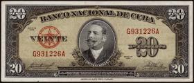 Kuba / Cuba P.080b 20 Pesos 1958 (3)