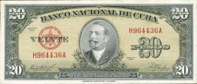 Kuba / Cuba P.080c 20 Pesos 1960 (1)