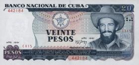 Kuba / Cuba P.110a 20 Pesos 1991 (1)