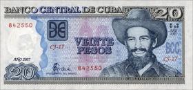 Kuba / Cuba P.122d 20 Pesos 2007 (1)
