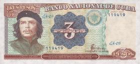 Kuba / Cuba P.113 3 Pesos 1995 Che Guevara (1)