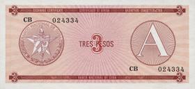 Kuba / Cuba P.FX02 3 Pesos (1985) Exchange Certificate Serie A (1)