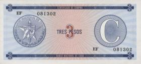 Kuba / Cuba P.FX20 3 Pesos o.J. Serie C (1)