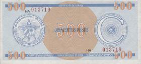 Kuba / Cuba P.FX18 500 Pesos o.J. (1)