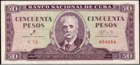 Kuba / Cuba P.098a 50 Pesos 1961 (3)